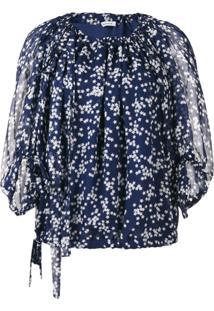 P.A.R.O.S.H. Blusa Estampada - Azul