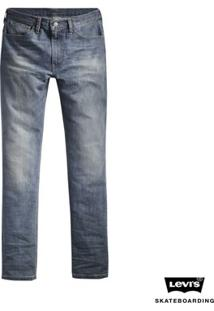 Calça Jeans Levis Skateboarding 504 Straight - Masculino-Azul