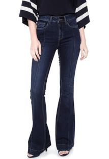 Calça Jeans Calvin Klein Flare Estonada Azul