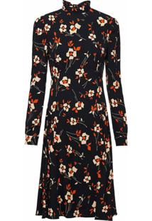 Prada Vestido Com Estampa Floral - Preto