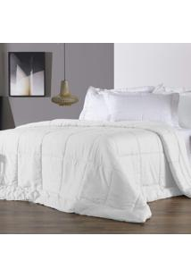 Edredom Queen Altenburg 230 Fios Antimicrobiano Com Tencel Four Seasons - Branco Branco - Tricae