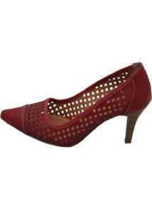 Scarpin Cristhi Shoes Laser Carmim
