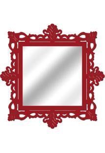 Espelho De Parede 14849V Vermelho 70X70 Art Shop