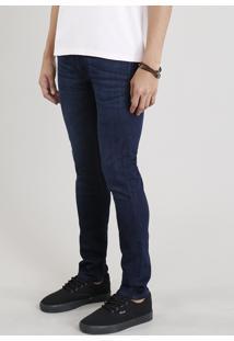 Calça Jeans Masculina Slim C2C Azul Escuro