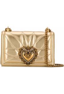 Dolce & Gabbana Bolsa Tiracolo Devotion Média - Dourado