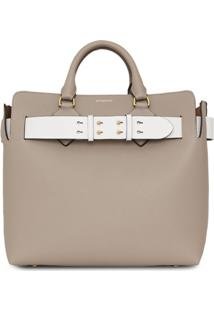 Burberry Bolsa The Medium Com Cinto - Cinza