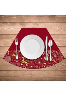 Jogo Americano De Natal Redondo Elementos Natalinos Kit Com 4 Pã§S - Multicolorido - Dafiti