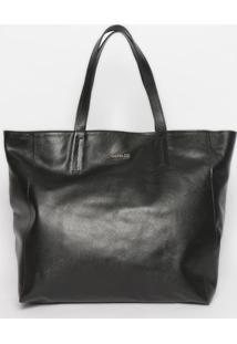 Bolsa Com Pespontos - Preta - 34X48X14Cm- Griffagriffazzi
