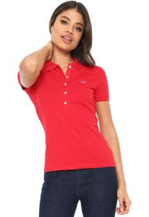 Camisa Pólo Lacoste Vermelha feminina   Shoelover c496b82515