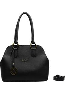 Bolsa De Couro Recuo Fashion Bag Tiracolo Preto