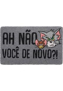 Capacho Tom And Jerry Cinza E Preto 0,5X60X37