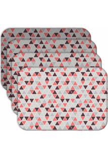 Jogo Americano Love Decor Wevans Multi Triângulos Kit Com 4 Pçs.