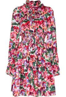 Dolce & Gabbana Floral Print Mini Dress - Rosa