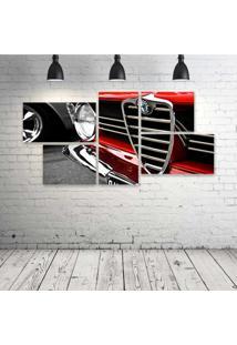 Quadro Decorativo - Car-Red - Composto De 5 Quadros - Multicolorido - Dafiti