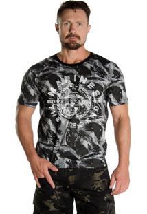 Camiseta Black Flag Marines Camuflado Urbano