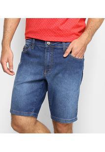 Bermuda Jeans Colcci Davi Masculina - Masculino-Jeans