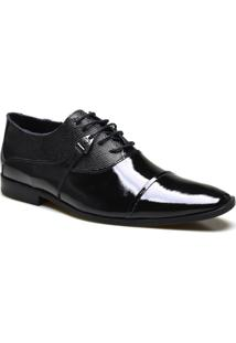 Sapato Social Calvest Em Couro Verniz - Masculino