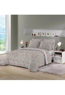 Edredom King Size Rosa Estampado Munique 260X280Cm Lepper
