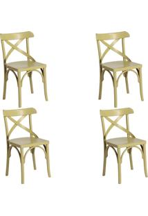 Kit 4 Cadeiras Decorativas Gran Belo Crift Verde