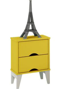 Criado-Mudo Twister 2 Gv Amarelo E Branco