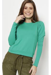 Blusa Lisa - Verde - Chocoleitechocoleite