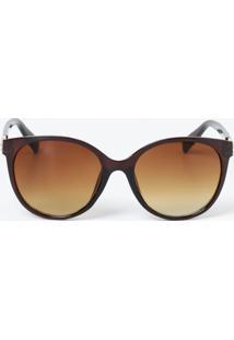 Óculos Feminino De Sol Redondo Detalhe Strass Marisa