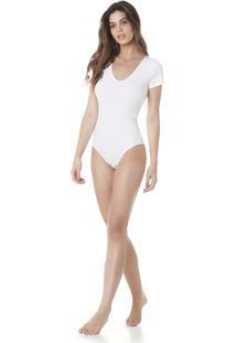 Body Básico Serinah Brand Decote V Branco