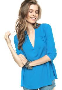 0df3fabc35 ... Blusa Cantão Recortes Azul