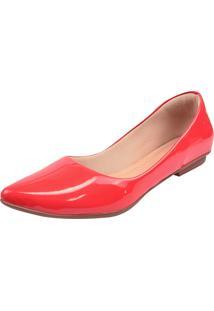 Sapatilha Donna Santa Bico Fino Vermelha - Kanui