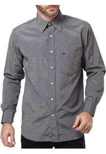Camisa Manga Longa Masculina Di Marcus Cinza