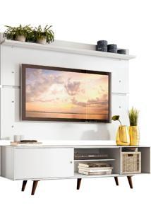 Rack Madesa Dubai E Painel Para Tv Atã© 65 Polegadas Com Pã©S - Branco/Rustic Branco - Branco - Dafiti