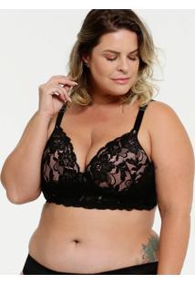 Sutiã Feminino Top Corpete Renda Plus Size Marisa