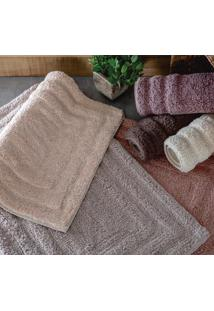 Tapete Para Banheiro Indiano Malibu 45X70Cm Cores Rozac Bege