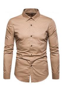 Camisa Masculina Social Slim Mackay - Khaki