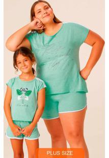 Pijama Verde Claro Feminino Rise And Fly Plus