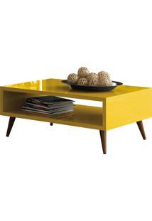 Mesa De Centro Decorativa Lyam Decor Lara Amarelo - Amarelo - Dafiti
