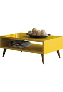 Mesa De Centro Decorativa Lyam Decor Lara Amarelo