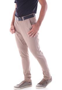 Calça 3043 Sarja Kaki Medio Traymon Modelagem Skinny