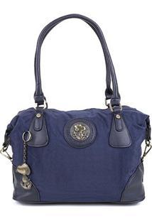 Bolsa Snoopy Tote Bag Média Feminina - Feminino-Azul
