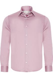Camisa Masculina Fio 80 Premium - Rosa