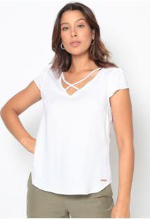 Blusa Texturizada Com Tiras- Branca- Vip Reservavip Reserva