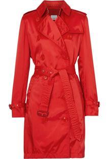 Burberry Trench Coat Com Capuz Removível - Vermelho