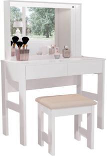 Penteadeira Com Espelho Jasmine Branca