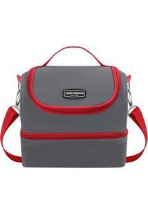 Bolsa Térmica- Cinza Escuro & Vermelha- 23X21X15Cmjacki Design