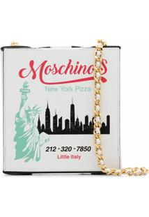 Moschino Pizza Box Shoulder Bag - Branco