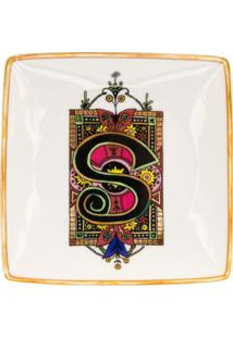 Versace Home Tigela Holiday Alphabet 'S' - Branco