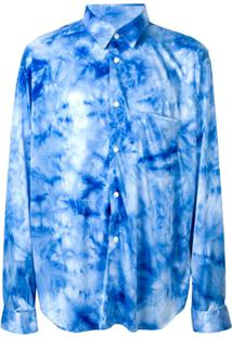 Comme Des Garçons Homme Plus Camisa Tie Dye - Azul