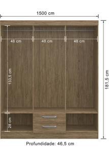 Guarda-Roupa 6 Portas Decibal Rp2620 Wood Se
