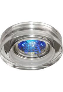Spot Embutir Redondo Cristal 1Cmx6,5Cm 35W Gu10 Bella Iluminação Caixa Com 2 Unidade Cromado Bivolt