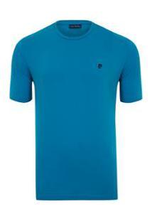 Camiseta Pierre Cardin Flat - Masculino-Azul